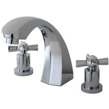 Kingston Brass Two Handle Roman Tub Filler Faucet - Polished Chrome KS4361ZX