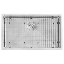 Ruvati 32-inch Undermount 16 Gauge Tight Radius Kitchen Sink Stainless Steel Single Bowl - RVH7400