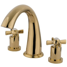 Kingston Brass Two Handle Roman Tub Filler Faucet - Polished Brass