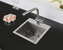 Ruvati 15 x 15 inch Drop-in Topmount Bar Prep Sink 16 Gauge Stainless Steel Single Bowl - RVH8115