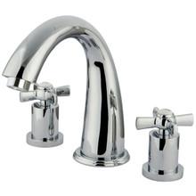 Kingston Brass Two Handle Roman Tub Filler Faucet - Polished Chrome