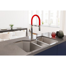 "Ruvati 35"" Triple Bowl Undermount 16 Gauge Stainless Steel Kitchen Sink - RVH8500"