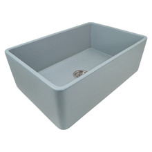 Ruvati 30 x 20 inch Fireclay Reversible Farmhouse Apron-Front Kitchen Sink Single Bowl - Horizon Gray - RVL2100GR