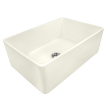 Ruvati 33 x 20 inch Fireclay Reversible Farmhouse Apron-Front Kitchen Sink Single Bowl - Biscuit - RVL2300BS