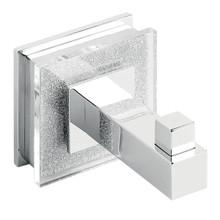 Ruvati RVA5003 Valencia Luxury Bathroom Accessory Robe Hook - Crystal and Chrome