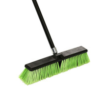 Alpine 460-24-1 Multi-Surface Push Broom 24 inch - Black/Green