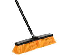 Alpine 460-24-3 Rough-Surface Push Broom 18 inch - Black/Yellow