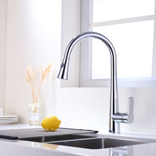 Vanity Art F80006 Pull Out Spray Kitchen Faucet - Chrome