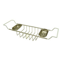 "Kingston Brass CC2158 Clawfoot Tub Soap Caddy Adjustable 26"" To 33"" - Satin Nickel"