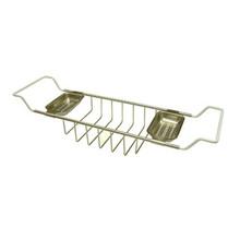 "Kingston Brass CC2158 Clawfoot Tub Soap Caddy Adjustable 26"" To 33"" - Satin Nickel"