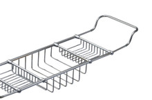 Valsan Essentials 53405PV Adjustable Bathtub Caddy - Rack - Polished Brass