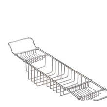 Valsan Essentials 53412GD Large Adjustable Bathtub Caddy - Rack - Gold