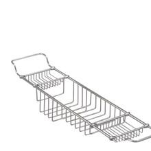 Valsan Essentials 53412GD Large Adjustable Bathtub Caddy - Rack - Gold