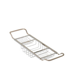 Valsan Essentials 53413GD Adjustable Bathtub Caddy - Rack - Gold
