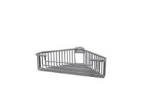 "Valsan 53445UB Essentials Large Deep Detachable Corner Basket 12"" x 9 3/4"" x 3 1/4""  - Unlacquered Brass"