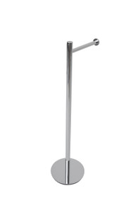 Valsan 53506MB Essentials Contempoary Free Standing Toilet Tissue Paper Holder - Matte Black