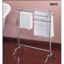 Valsan VDS 53515UB Freestanding Double Towel Holder - Unlacquered Brass