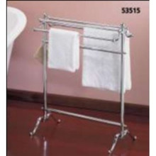 Valsan VDS 53515UB Freestanding Double Towel Holder - Unlacquered Brass