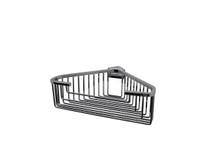 "Valsan 53546GD Essentials Large Deep Detachable Corner Basket w Square Rungs 9 3/4"" x 9 3/4"" x 3 1/4"" - Gold"