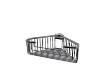 "Valsan 53546UB Essentials Large Deep Detachable Corner Basket w Square Rungs 9 3/4"" x 9 3/4"" x 3 1/4"" - Unlacquered Brass"