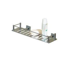 "Valsan 53605GD Essentials Rectangular Shower Shelf with Braga Backplate 11 3/4"" X 3 1/2"" - Gold"
