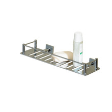 "Valsan 53605UB Essentials Rectangular Shower Shelf with Braga Backplate 11 3/4"" X 3 1/2"" - Unlacquered Brass"