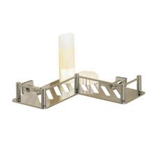 "Valsan 53606PV Essentials L-Shaped Shower Shelf w Braga Backplate 7 7/8"" X 7 7/8"" X 3 1/2"" - Polished Brass"