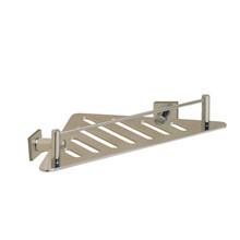 "Valsan 53607UB Essentials Triangular Shower Shelf w Braga Backplate 7 1/2"" X 7 1/2"" X 3 1/2"" - Unlacquered Brass"