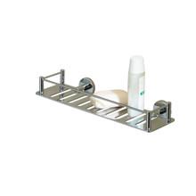 Valsan 53608UB Essentials Rectangular Shower Shelf - Unlacquered Brass