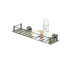 Valsan 53608UB Essentials Rectangular Shower Shelf - Unlacquered Brass