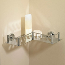 Valsan 53609GD Essentials L-Shaped Shower Shelf / Basket - Gold