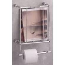 Valsan 57100UB Essentials Magazine Rack & Spare Tissue Paper Holder - Wall Mounted - Unlacquered Brass