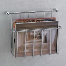 Valsan 57101PV Essentials Magazine Holder - Wall Mounted - Polished Brass
