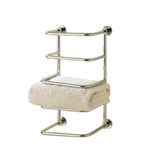 Valsan 57203UB Essentials 4-Tier Towel Rack-Shelf-Wall Mounted - Unlacquered Brass