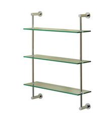 Valsan 57309MB Essentials 3-Tier Shelf Unit - Glass Shelf - Matte Black