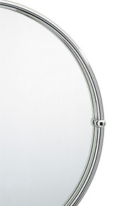 "Valsan 66001UB Kingston 19 1/2"" Framed Round Mirror - Unlacquered Brass"