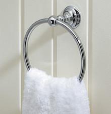 "Valsan 66340GD Kingston 6"" Towel Ring - Gold"