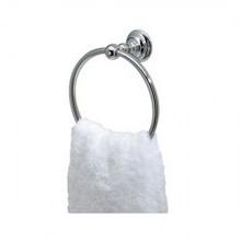 "Valsan 66342GD Kingston 8 1/4"" Towel Ring - Gold"