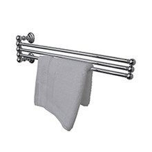 "Valsan 66370GD Kingston Adjustable 3 Tier 18"" Swivel Arm Towel Rail / Bar - Gold"