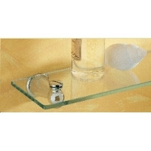 "Valsan 66862UB Sintra 19 3/4"" Glass Shelf - Unlacquered Brass"