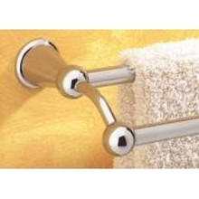 "Valsan 66876UB Sintra 25"" Double Towel Bar - Rack - Unlacquered Brass"