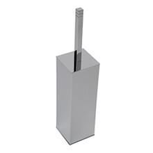 Valsan 67499NI Cubis-Plus Freestanding Toilet Brush Holder - Polished Nickel