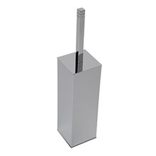 Valsan 67499NI Cubis-Plus Freestanding Toilet Brush Holder - Polished Nickel