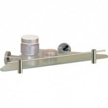 Valsan 67538UB Porto Corner Glass Shelf - Unlacquered Brass