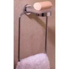 Valsan 67542MB Porto Large Towel Ring & Soap Dish - Matte Black