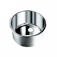 "Opella 14127.045 12"" Round Bar Sink - Polished Stainless"