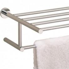 "Valsan 675632UB Porto 23 5/8"" Towel Bar & Shelf - Unlacquered Brass"