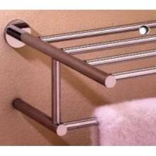 """Valsan 67563GD Porto 15 3/4"""" Towel Bar & Shelf - Gold"""