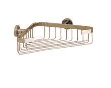 Valsan 67589UB Porto Corner Soap Basket - Wall Mounted - Unlacquered Brass