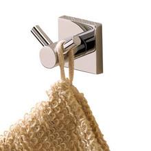 Valsan 67612UB Braga Bathroom Robe Double Hook - Unlacquered Brass